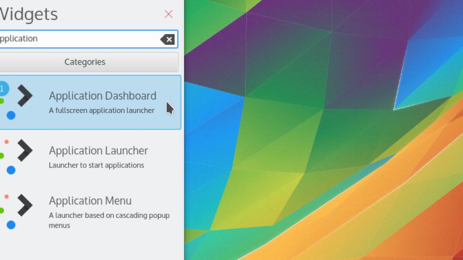 KDE 5 Application Dashboard