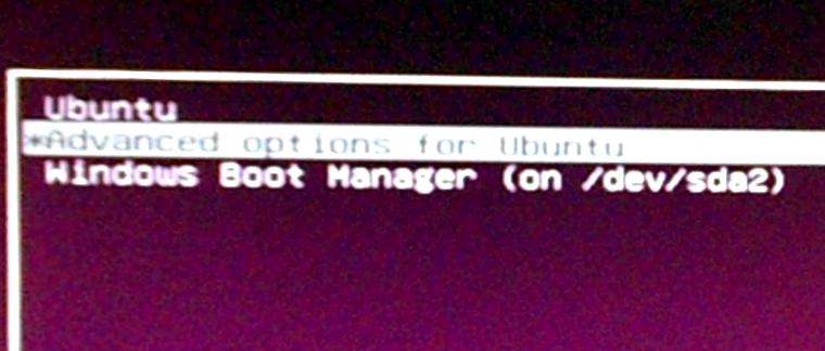 Ubuntu 15.04 GRUB menu