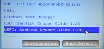 Computer Boot Menu