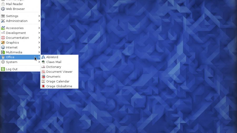 Fedora 23 Xfce menu