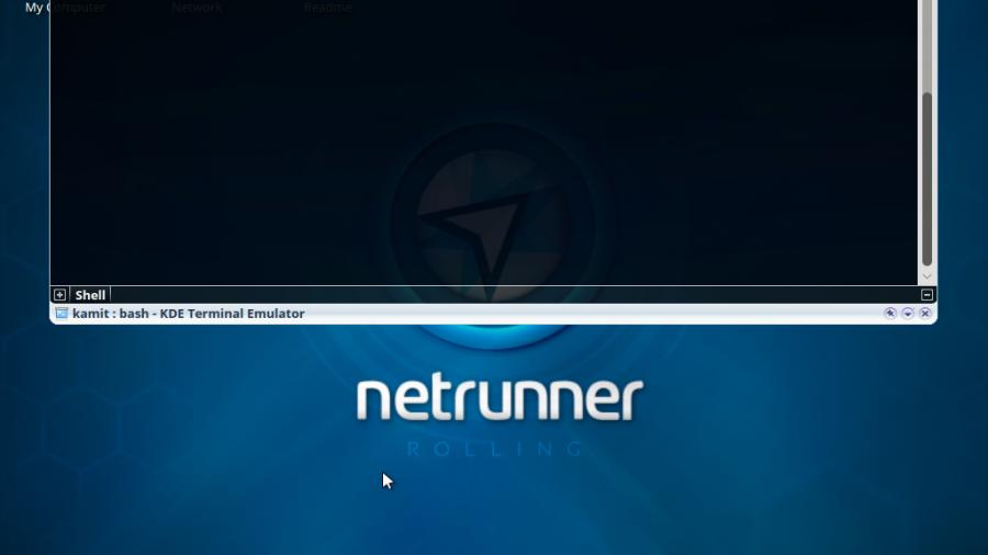 Netrunner Rolling 2015.11 terminal emulator