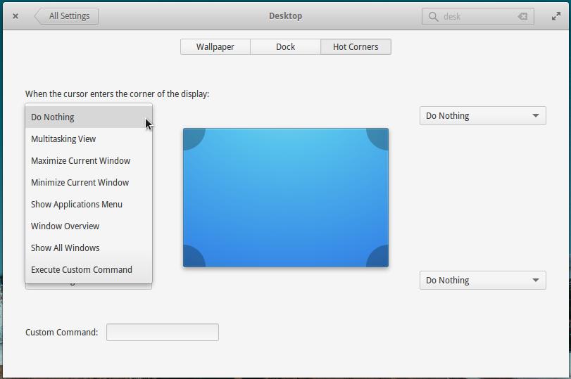 Hot Corners on elementary OS Freya 0.3.2