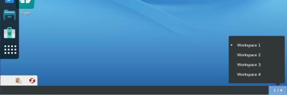 ROSA Desktop Fresh GNOME R7 bottom panel
