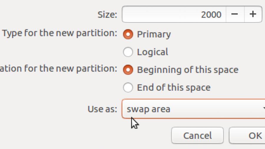 Ubuntu 16.04 swap partition