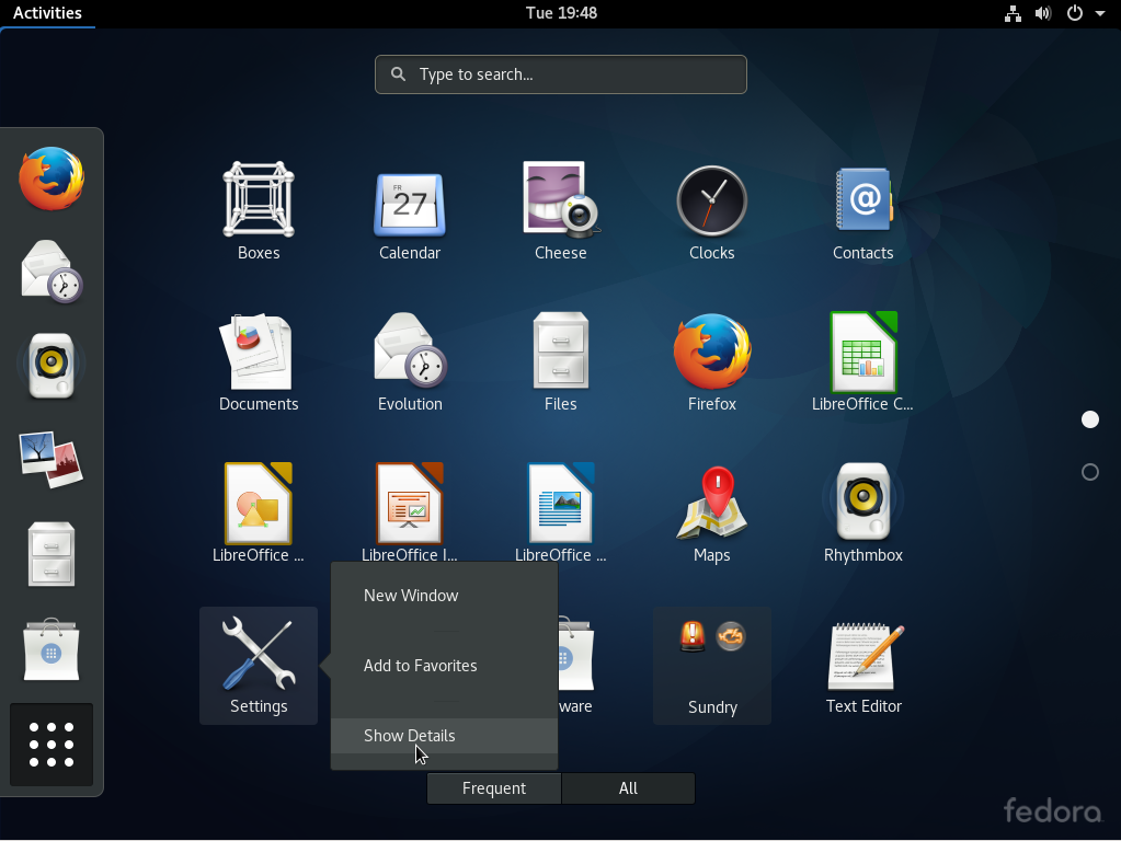 Fedora 25 GNOME 3 applications