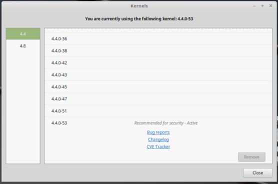 Linux Mint 18.1 4.4 kernels