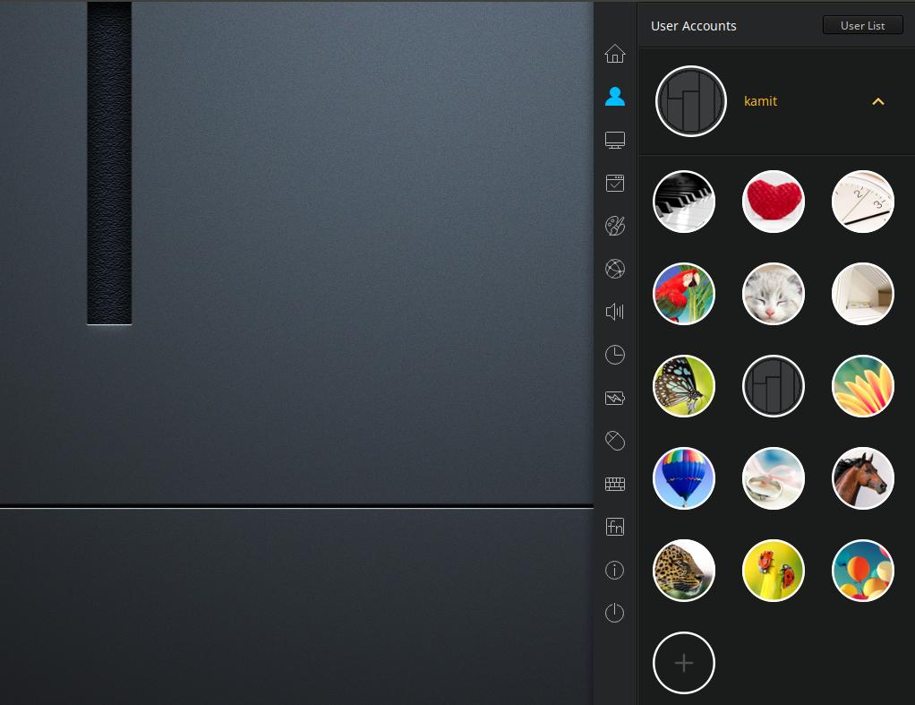 Manjaro Deepin 16.10.3 user avatar