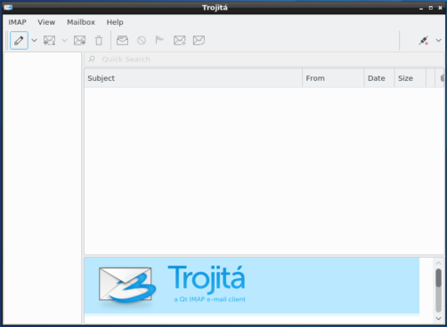 LXQt Trojita IMAP email client