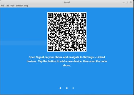 Signal Desktop scan code
