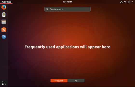 Ubuntu 17.10 desktop
