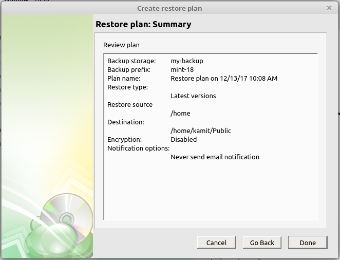 CloudBerry Backup restore