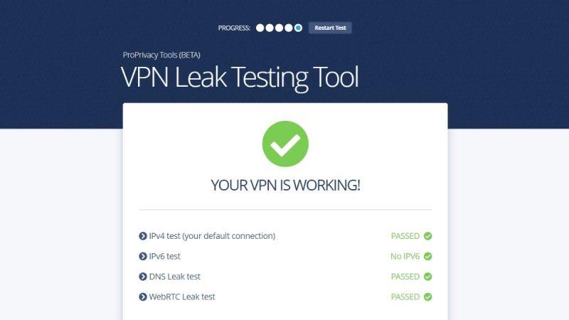 VPN leak test tool
